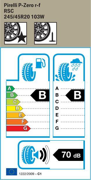 BMW Reifen relli P Zero RSC 245 45 R20 103W