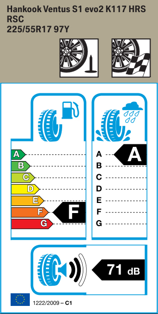 BMW Reifen nkook Ventus S1 evo2 K117 RSC 225 55 R17 97Y
