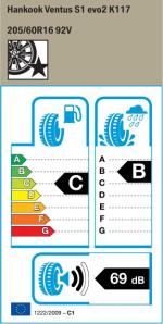 BMW Reifen nkook Ventus S1 evo2 K117 205 60 R16 92V