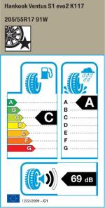 BMW Reifen nkook Ventus S1 evo2 K117 205 55 R17 91W